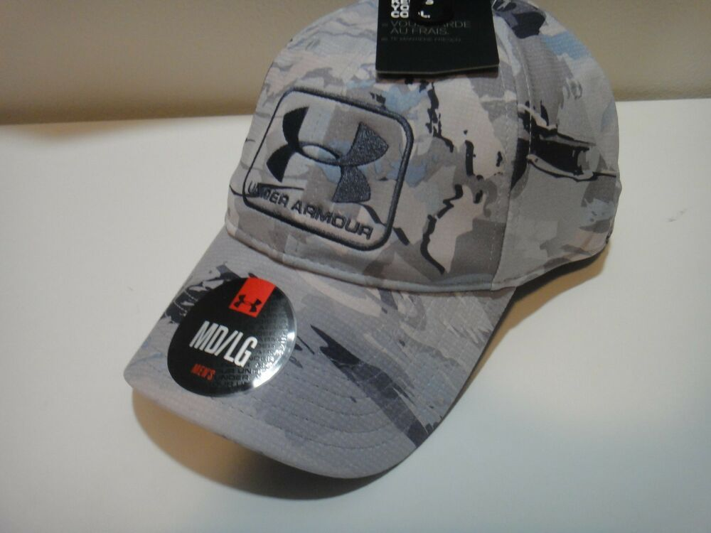 b9678e8eb19 Details about Under Armour Mens Heatgear Forest Camo Free Fit Hat ...