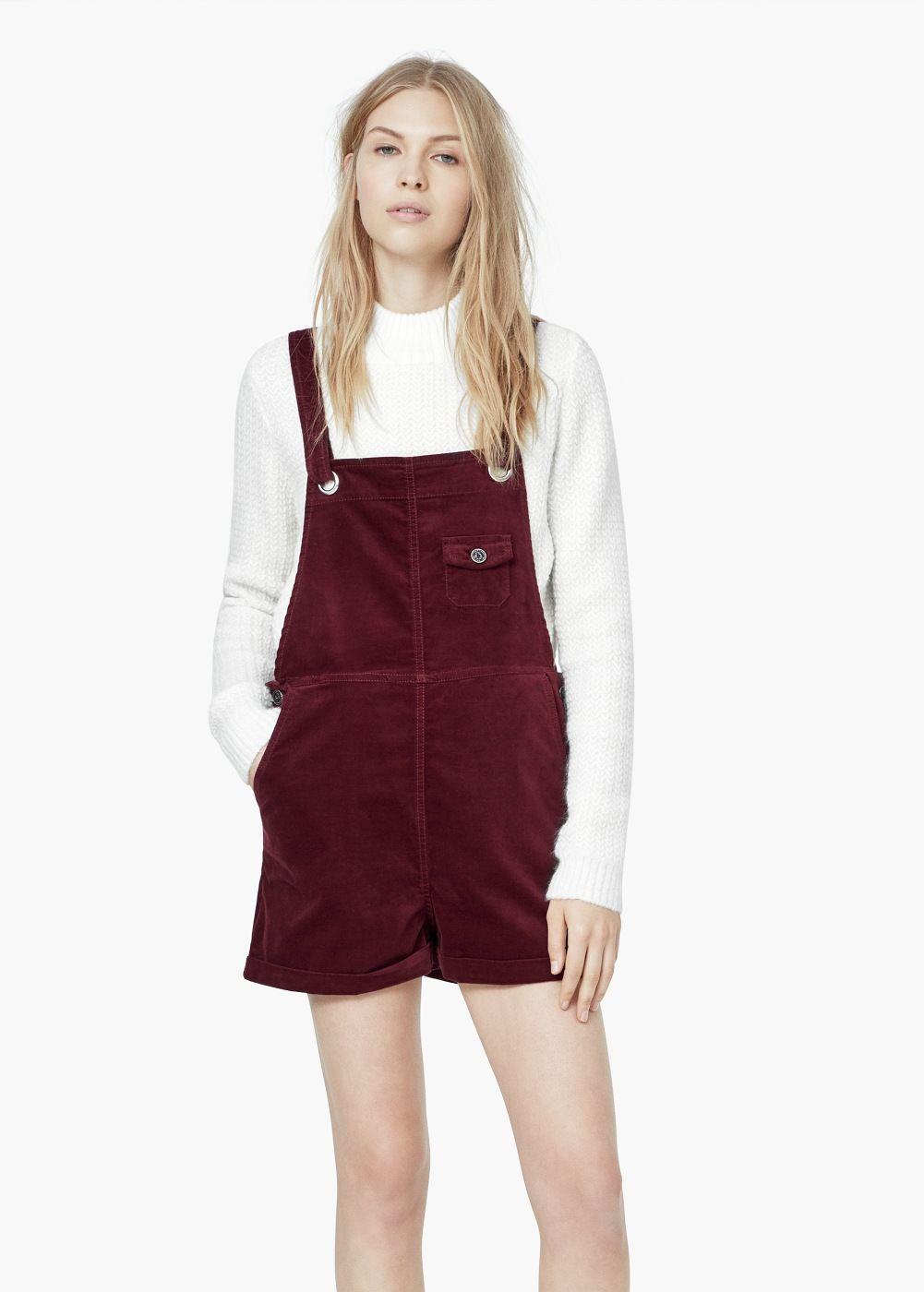 Salopette velours à poches - Femme  31f52a061ac