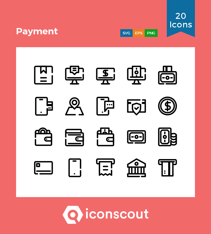Download Payment Icon Pack Available In Svg Png Eps Ai Icon Fonts Icon Pack Icon Icon Font