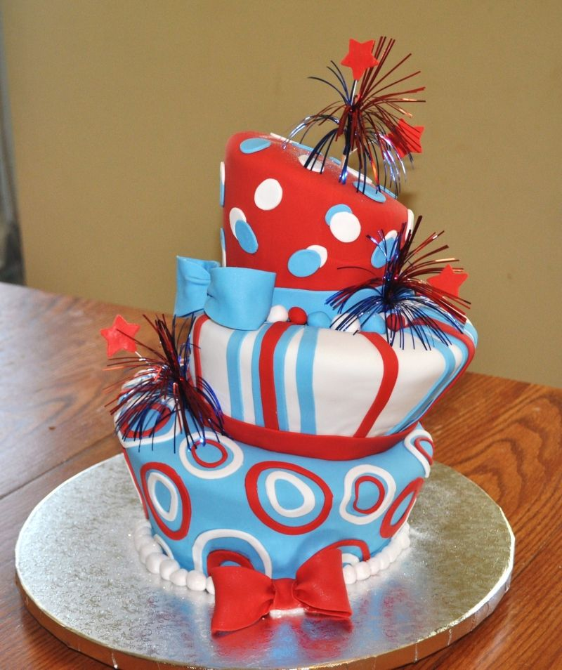 Cake Decorating Ideas For July 4th : 4th of July Cake Ideas Red white blue, July 4th and Dr ...