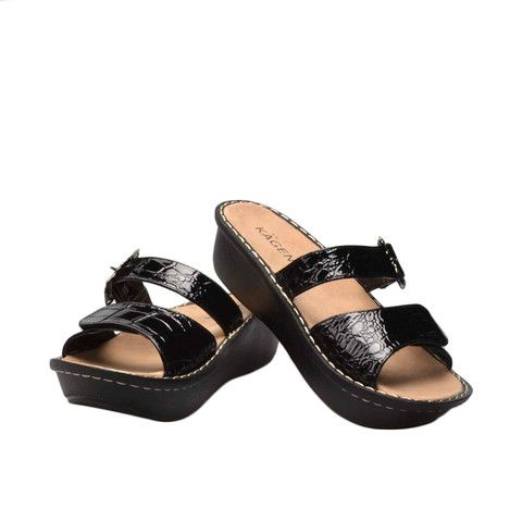 dcc2869ac74a New KAGEN Brand Julie Sandal in Black. All the comfort   style of your  favorite European brand at half the price! Yoga-mat pliability foot bed