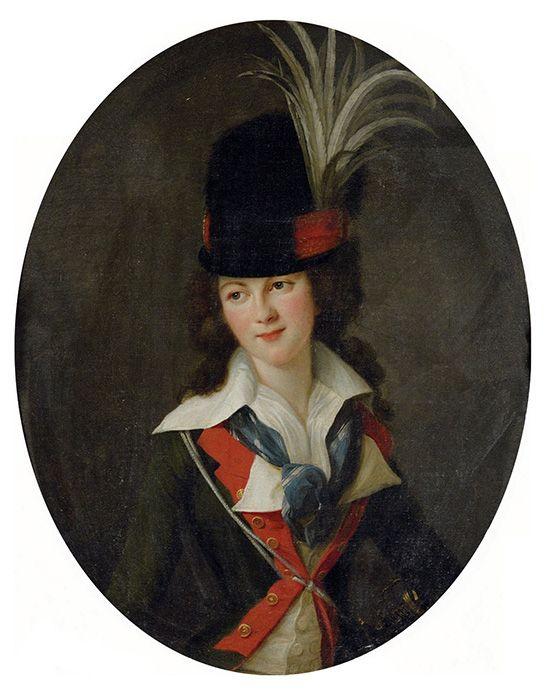 Victorienne Delphine Natalie de Rochechouart Mortemart, Marquise de Rouge, by Vigee Le Brun. Oil on canvas. 1788