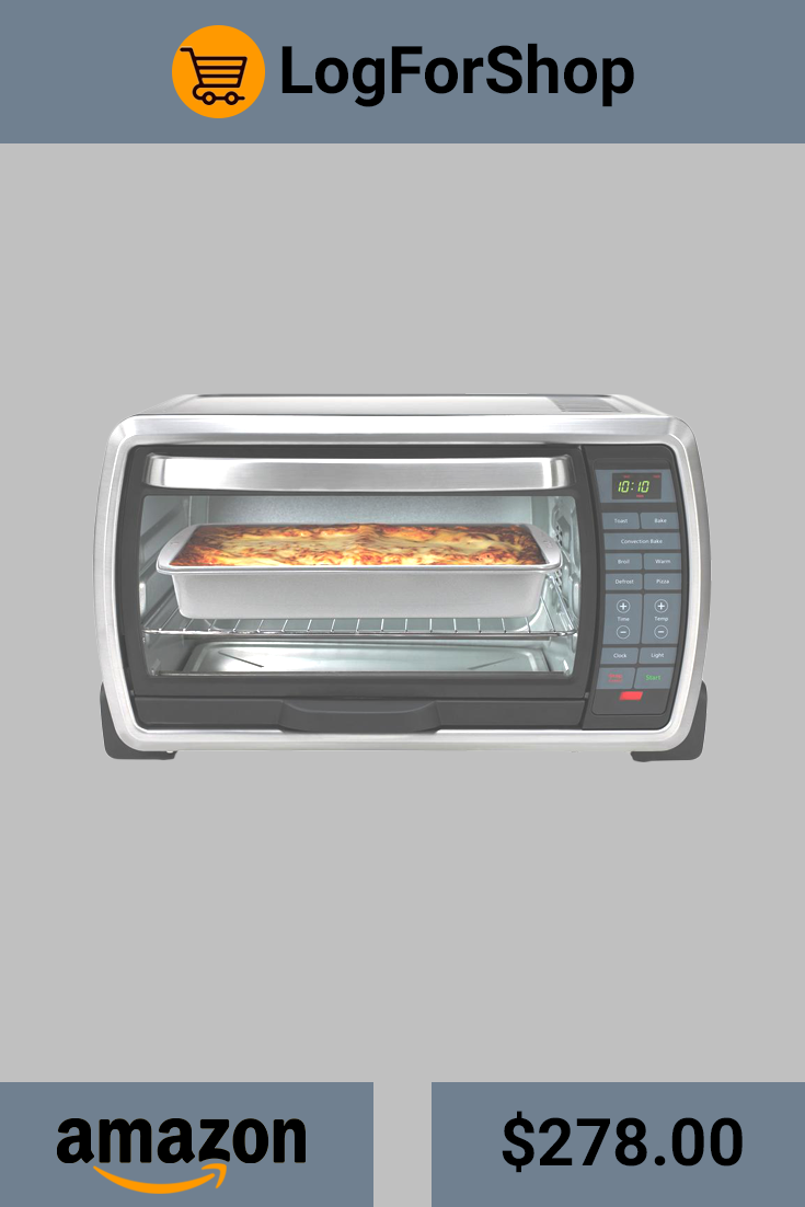Oster Large Capacity Countertop 6 Slice Digital Convection Toaster