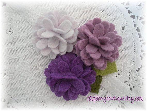 Felt Flower Headband Baby Headband Wool #feltflowertemplate Felt Flower Headband Baby Headband Wool #feltflowertemplate