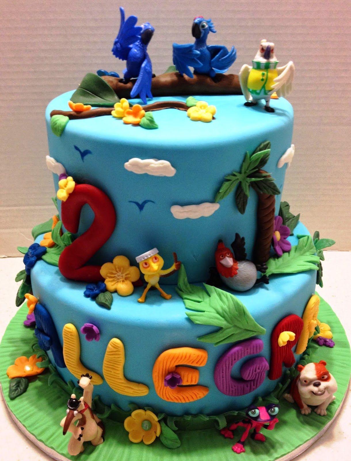 "MaryMel Cakes: ""Rio"" themed birthday cake"