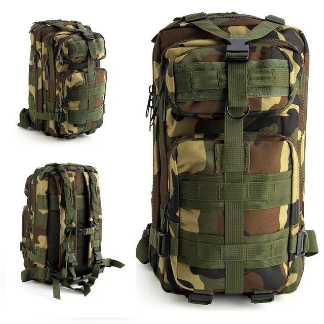 Hiking Camping Mil-Tec Military Army Patrol MOLLE Assault Pack Tactical  Combat Rucksack Backpack Bag ... 6e18223a07