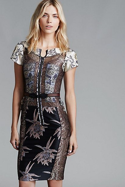 Embroidered Brocade Dress #anthropologie