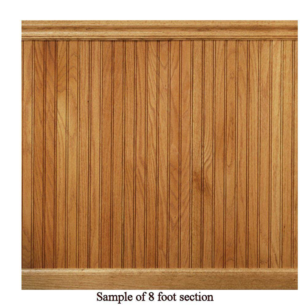 House Of Fara 8 Lin Ft Red Oak Tongue And Groove Wainscot Paneling 32okit Wainscoting Beadboard Wainscoting