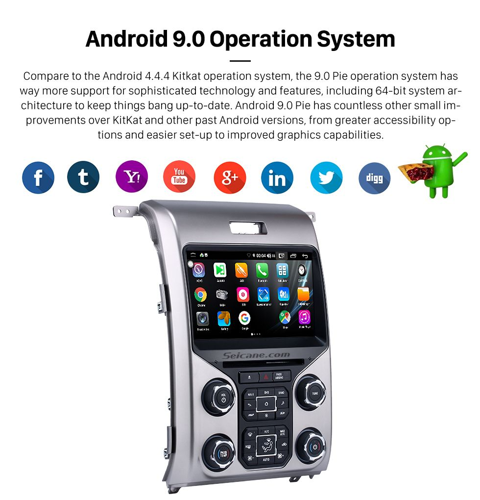 Seicane OEM Android 9.0 Radio GPS Navigation System for