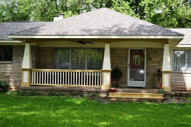 Front Porch Addition In Greenwood Indiana Gettum Associates