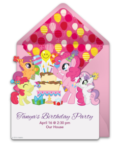 Customizable My Little Pony Birthday Online Invitations Easy To Personalize And Send For A Party Punchbowl
