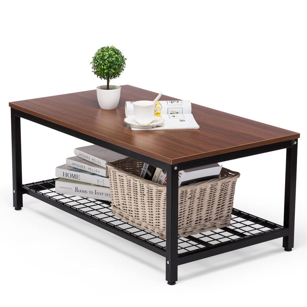 Icymi Wood Coffee Table Tail With Storage Shelf Adjule Home Furniture 82 90 End Date Thursday Nov 8 2018 22 01 00 Pst
