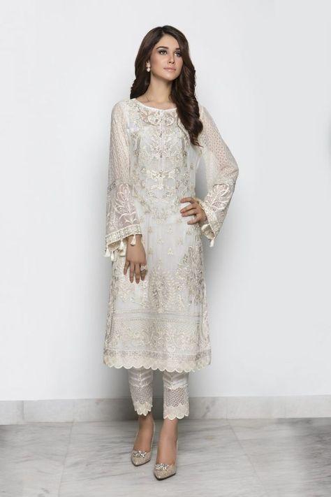 Resultado De Imagen Para White Suit Wedding Women Kurta Patterns Indian Attire Wear