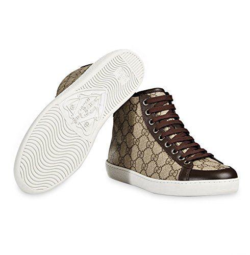b4f615a9e6ec Gucci Women s GG Supreme Canvas High Top Trainer Sneaker