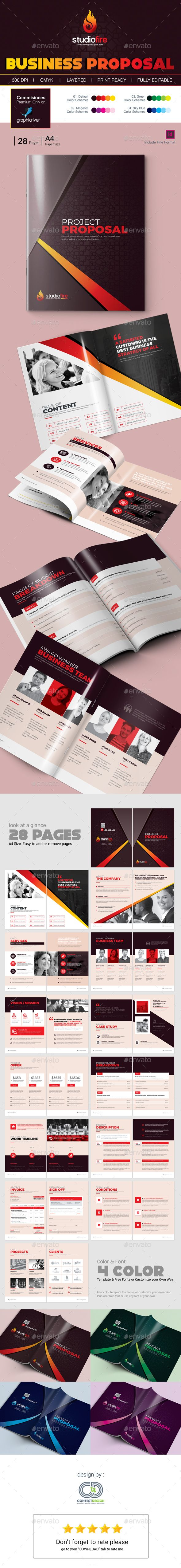 Project Proposal Template Design This proposal is made in indesign ...
