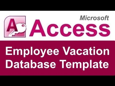 Employee Vacation Tracking Database Template - YouTube CGH - vacation tracking template