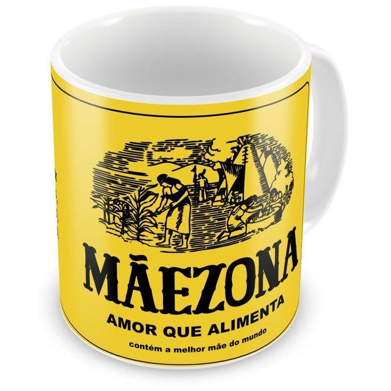 Caneca Porcelana Mãezona Maizena Amor que Alimenta - ArtePress | Brindes Personalizados, Canecas, Copos, Xícaras