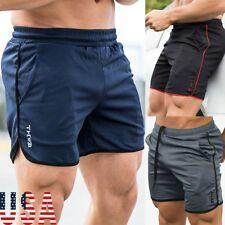Men Sports Gym Training Bodybuilding Summer Shorts Workout Fitness Short Pants