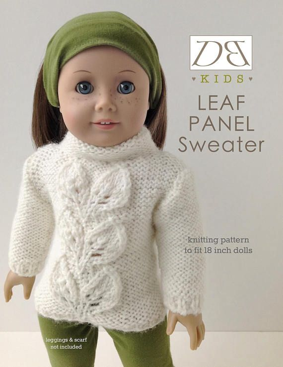 Doll clothes knitting pattern PDF for 18 inch American Girl | Doll ...