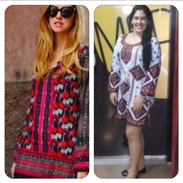 Inspiraçao do look d hj: tunica c estampa e manga larga #mood #70's #bohochic #hippie #trends by ganhadeirorenata