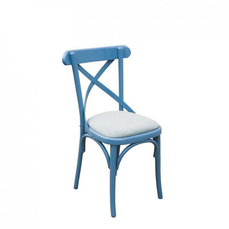 Vintage style möbel esszimmer  Stuhl gepolstert blau, Esszimmer, Küche, Landhausstil ...
