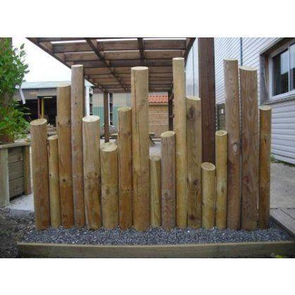 Rondins déco   Jardin   Pinterest   Rondin, Bordure en bois et Bordure