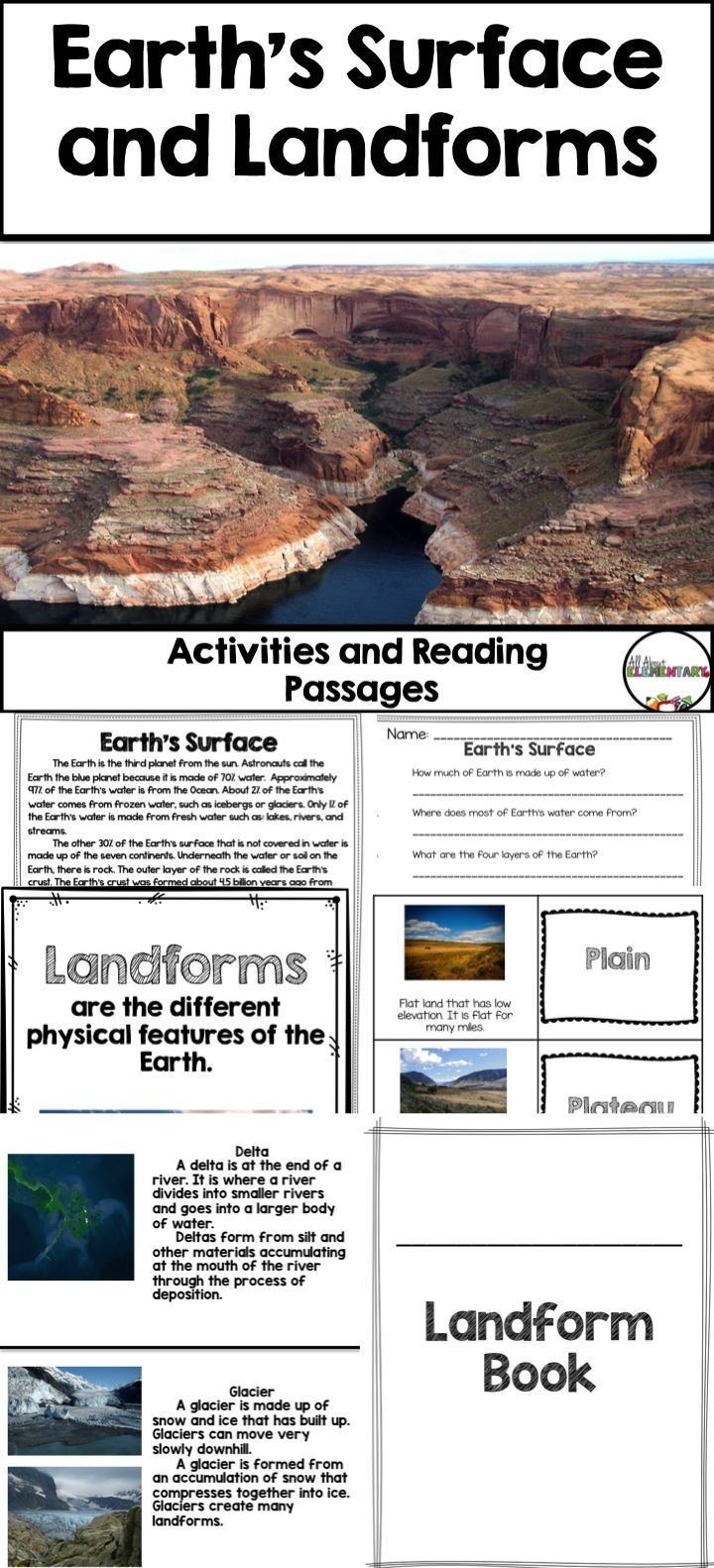 Earths Surface And Landforms Reading Passages Activities The Blobz Guide Teach Simple Electronic Circuits To Children Use This 72 Page Resource For Your Next Earth Science Lesson With 3rd 4th