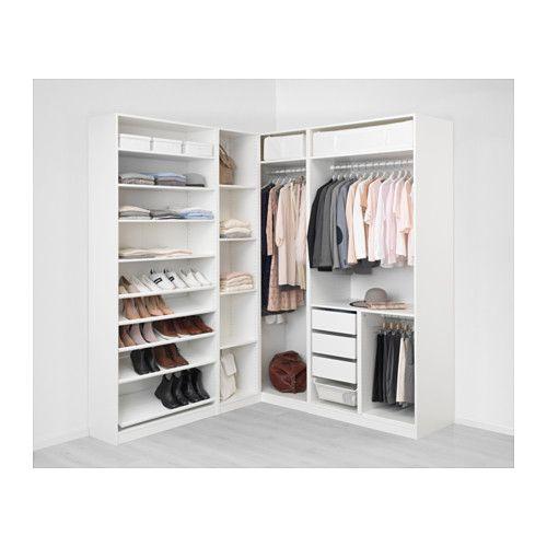 Pax armario esquina blanco tyssedal tyssedal vidrio tyssedal blanco blanco 210 188x236 cm - Ikea armarios modulares ...