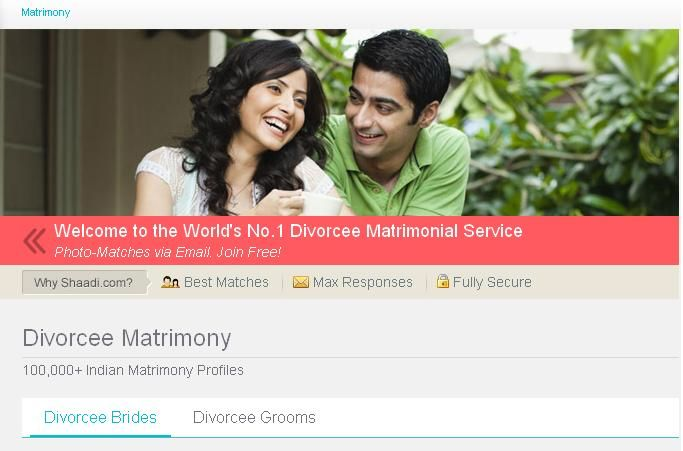 The largest Divorcee Matrimonial website with 1000s of