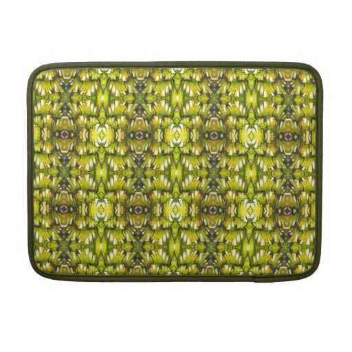 Mustard Yellow And Green Retro Wallpaper Pattern Sleeves For