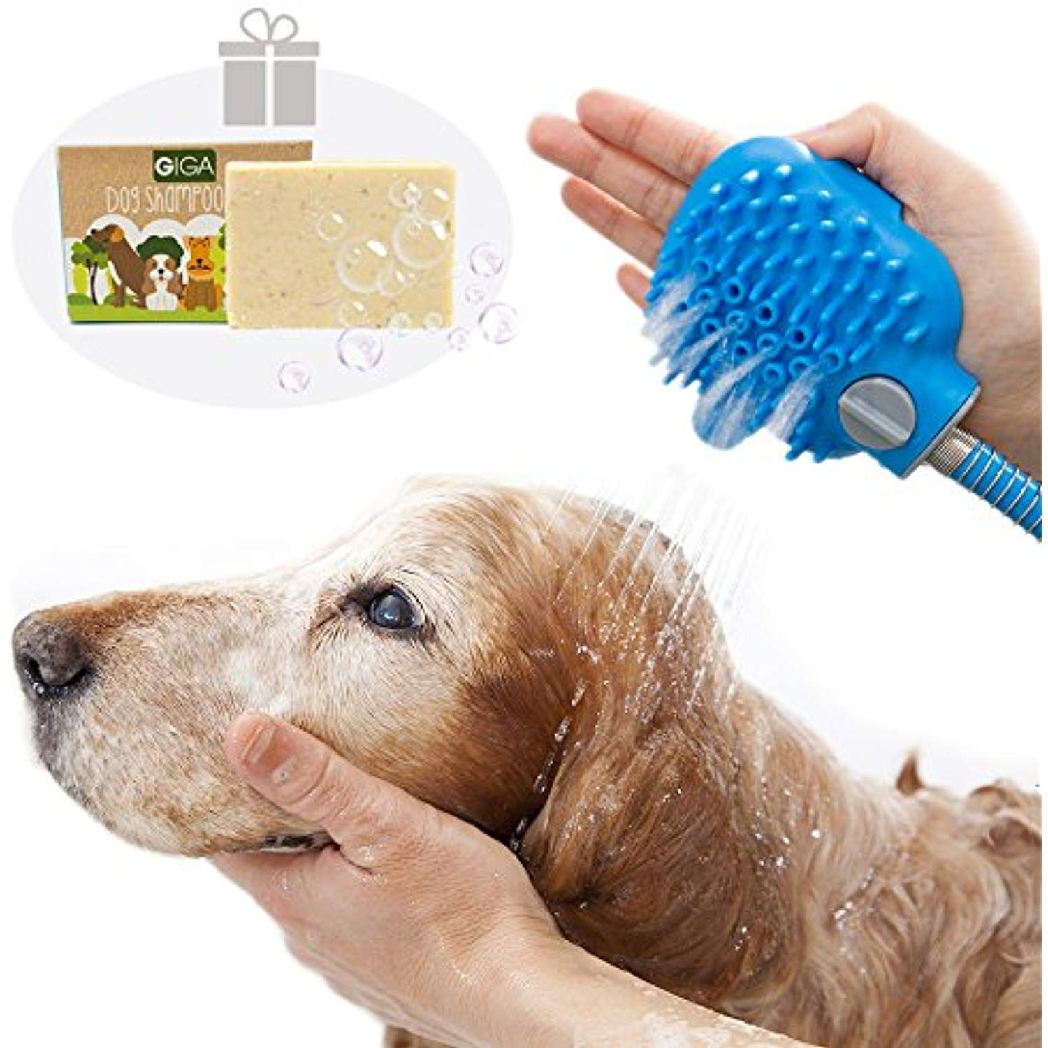 Tuokiy Bathing Tool A Dog Shower Sprayer Massage Hand Brush