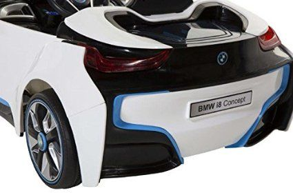 Amazon Com Bmw I8 Concept 6 Volt Electric Ride On Car White Black