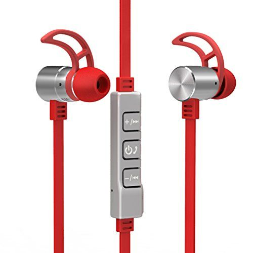 Special Offers - Airmate  Bluetooth Headphone Wireless Bluetooth in Ear Earphone Headset Noise Cancelling Headphones Earbuds with Microphone & Stereo Sports Headphone for Iphone Ipad and Any Other Bluetooth Enabled Device (Red) - In stock & Free Shipping. You can save more money! Check It (May 17 2016 at 10:20PM)…