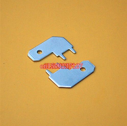 100pcs 6 3 Inserts Plug Spring Terminal Pcb Solder Lug L Type Corner Flag Thickness 0 8 Two Legs Pcb Welding Sheet Plugs Welding Flag
