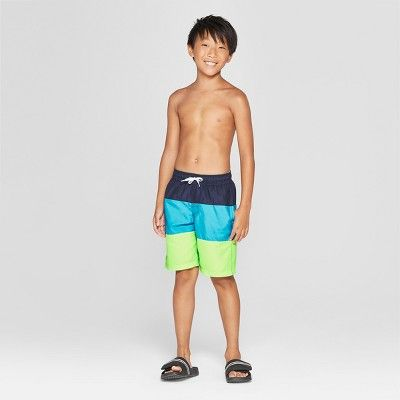 36d39be64c Boys' Tiered Swim Trunk - Cat & Jack Green M | Products in 2019 ...