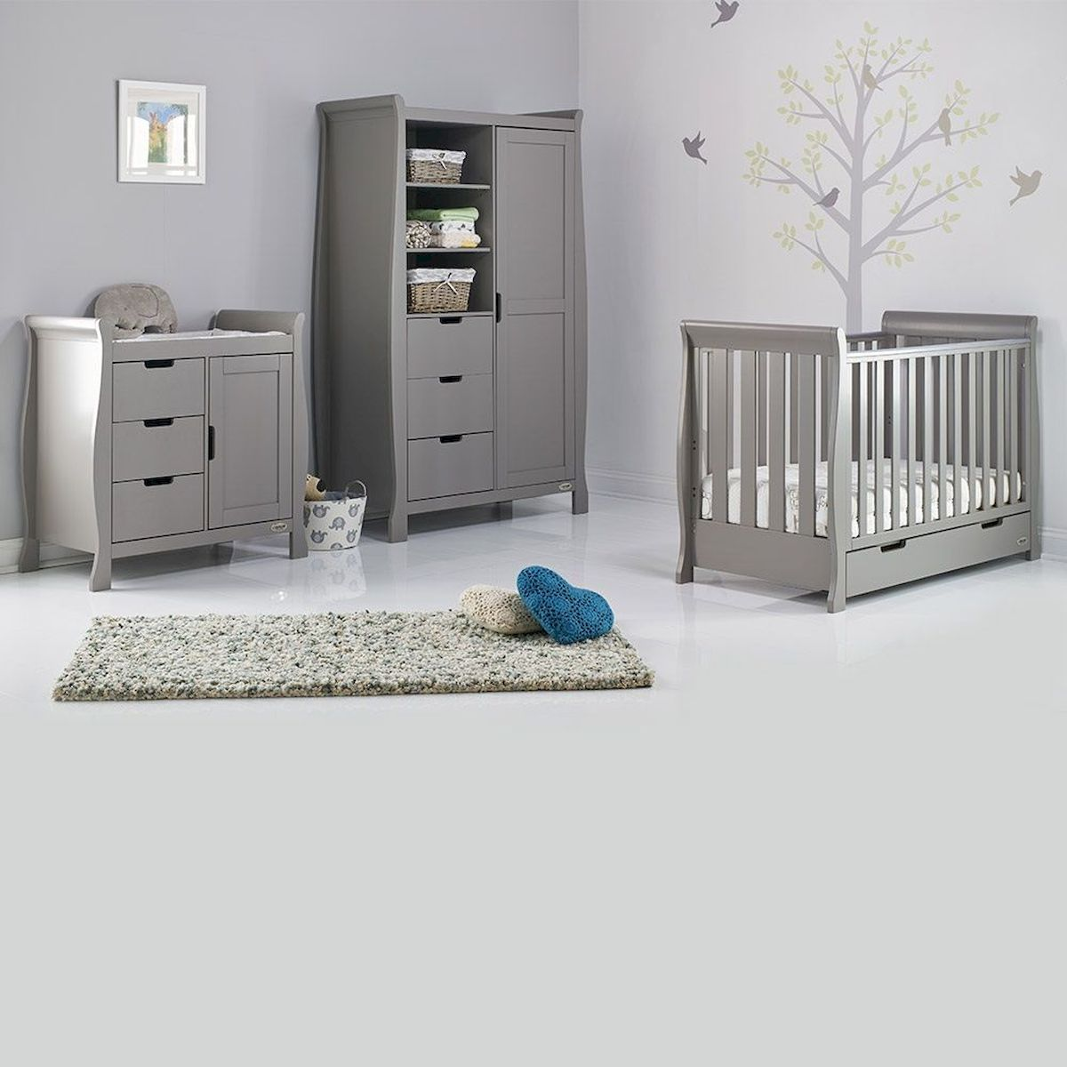 Comfortable Baby Nursery Furniture Set Grey Nursery Furniture