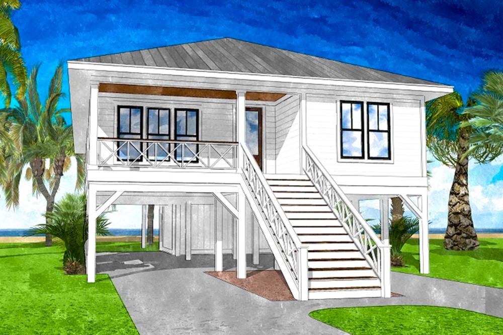 Plan 15247nc Coastal Cottage With Vaulted Interior In 2020 Modern Beach House Coastal House Plans Beach House Interior