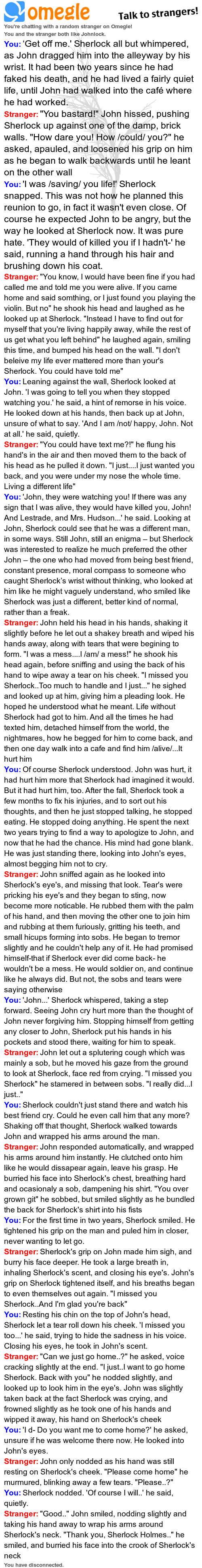 Sh Came Home Johnlock Sherlock Fandom Sherlock John