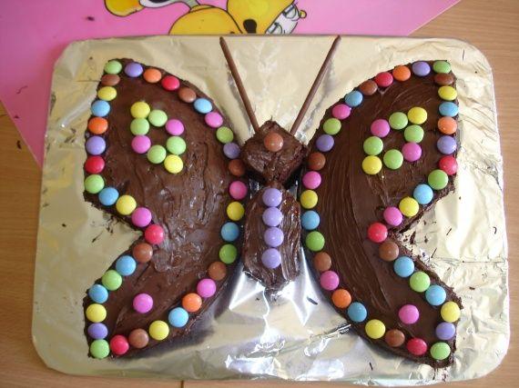 G teau papillon g teaux d 39 anniversaire pinterest - Decoration gateau papillon ...