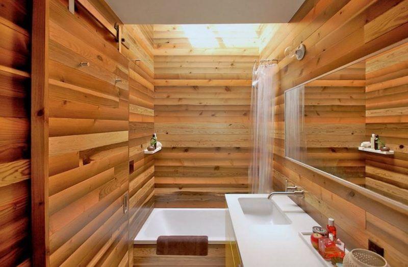 Bad Wandverkleidung Mit Holz   Warum Denn Nicht?   Badezimmer,  Wandverkleidung