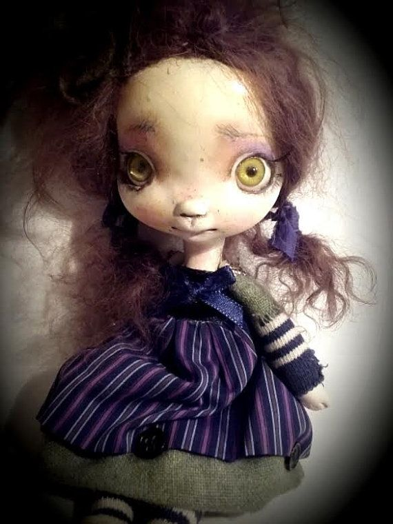 OOAK art doll by Chrishanthiher name is Lovy'' by ppinkydollsart
