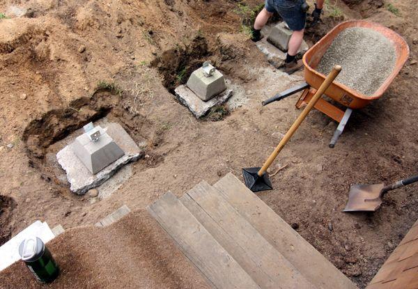Cinder Block Footings Footings1 061211 Deck Footings