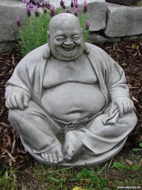 Happy Buddha Sitzend Steinguss Buddha Figur Buddha Buddha Kunst