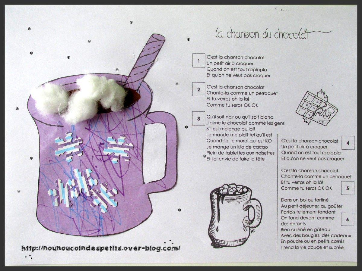Activit coloriage et collage de la tasse de chocolat chaud 15 mois et chanson du chocolat - Activite hiver maternelle ...