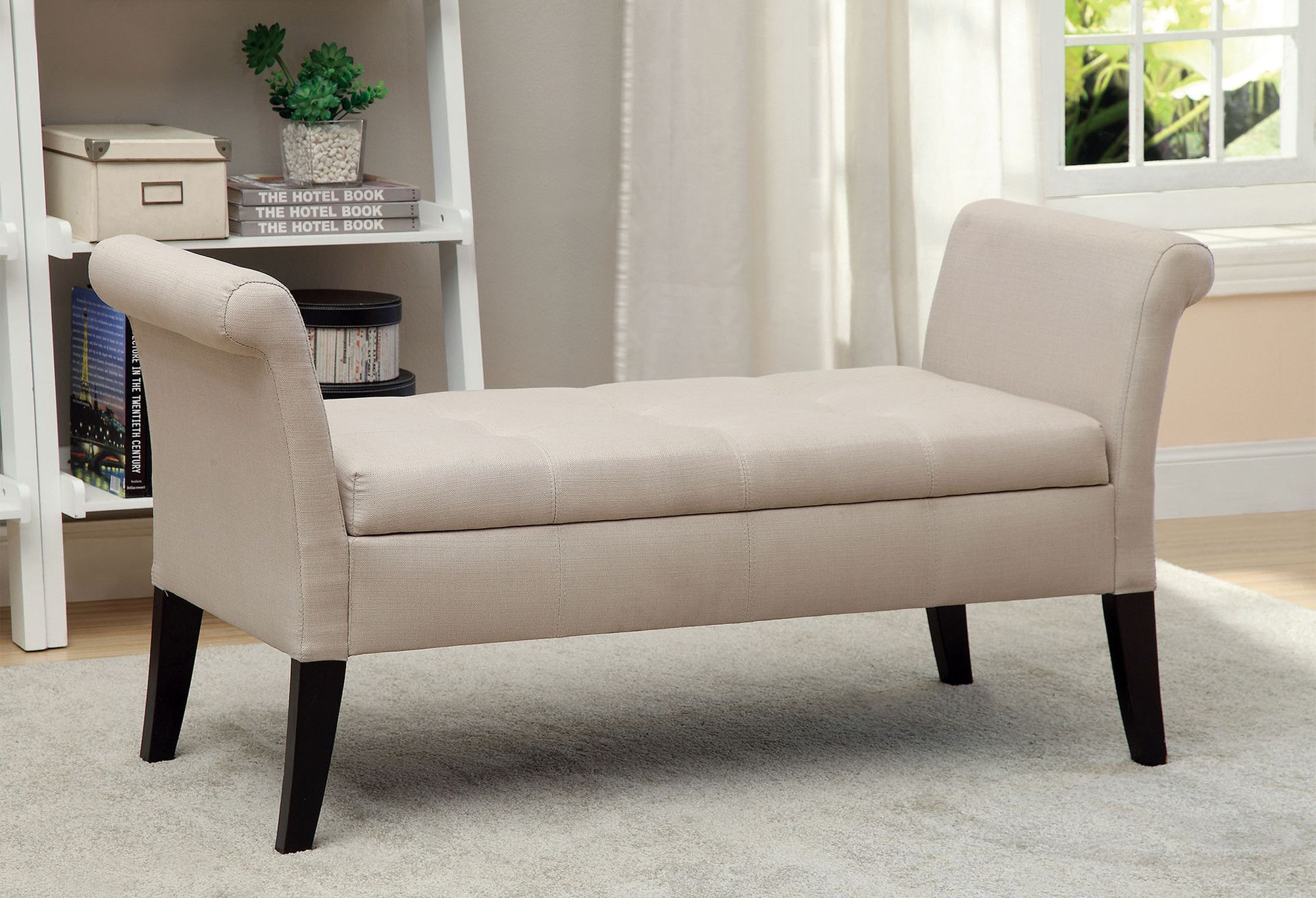Hokku Designs Revionna Upholstered Storage Bedroom Bench