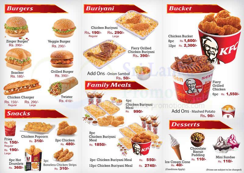 Kfc Menu Buckets Prices In 2020 Chicken Bucket Kfc Chicken Kfc
