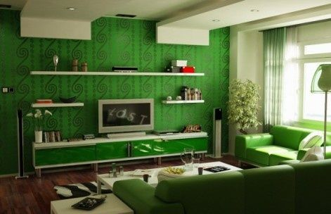 I like the shelves around the tv (hate the color!)