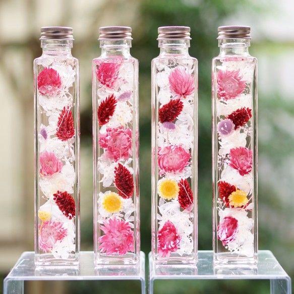 【ラッピング無料】ハーバリウム『pink bouquet♥』|フラワー・リース|hana-GinGa|ハンドメイド通販・販売のCreema