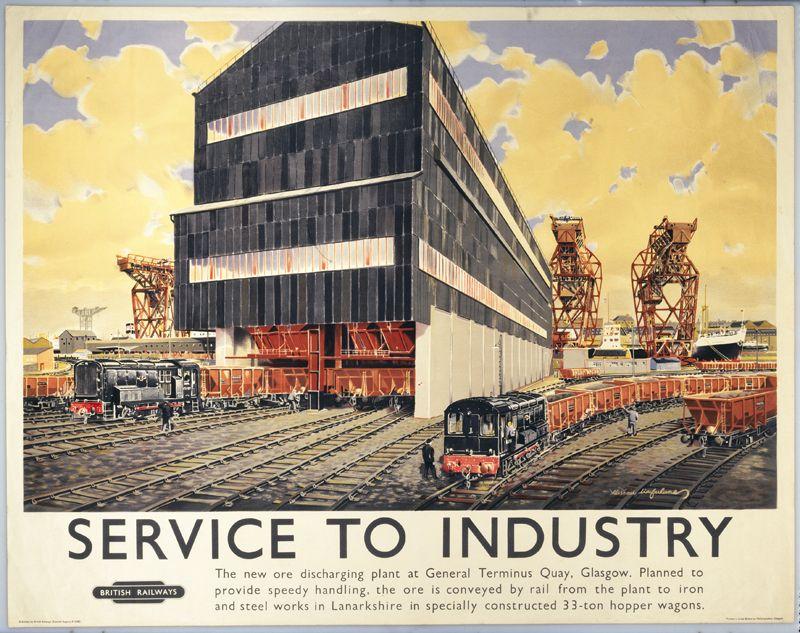 British Railways (Scottish Region) poster. Service to Industry ...