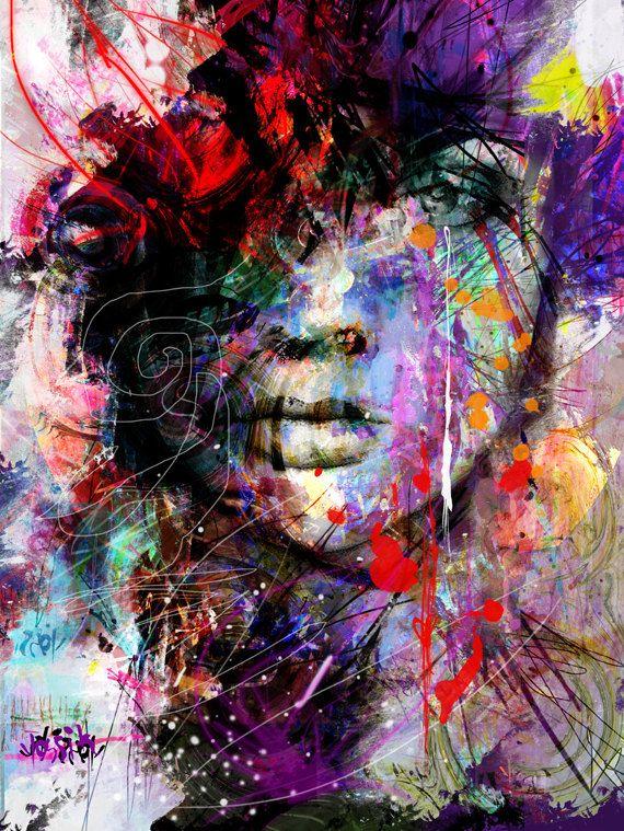 Ähnliche Artikel wie Yossi Orginal Kunst – Seele Inspiration Giclee print Embelliched nicht gerahmt versandt werden gerollt in einem sicheren Rohr auf Etsy